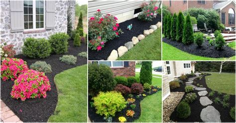 Black Landscape Gravel Stunning Black Mulch Landscaping Ideas You Must See