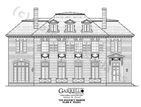 normandy manor house plan classic revival plans regency manor house plan 05203 front elevation classic