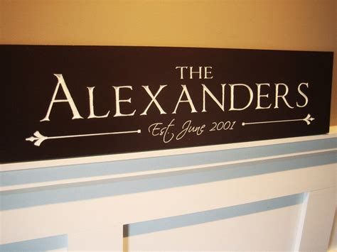 Handmade Family Name Signs - personalized family name sign plaque custom made just for you