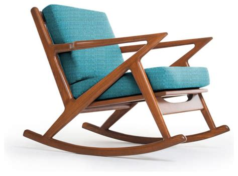 kennedy rocking chair lucky turquoise modern rocking