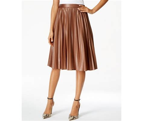 want pleated faux leather midi skirts and beautiful