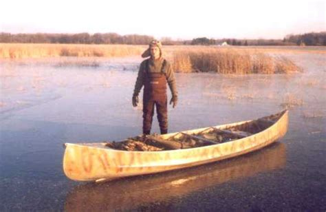 canoes he was ice he the duck hunter s boat page