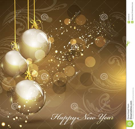 new year background gold new year s gold background with gold balls royalty free