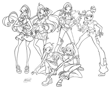 winx club coloring pages free printable pictures