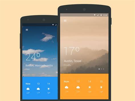 material design app video material design weather app by julia mattos dribbble