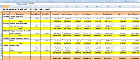 Excel For All Prepaid Expense Amortization Template To Automate Your Journal Entries Free Prepaid Expense Schedule Excel Template