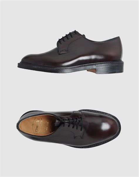 church s churchs laced shoes in brown for lyst