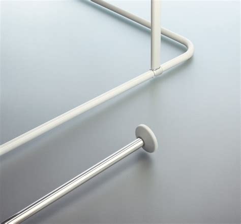 ceiling support rod for shower curtain spirella magic ceiling support for shower curtain rod