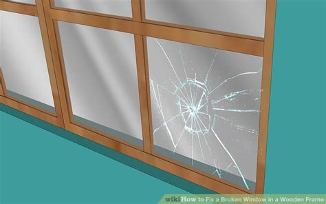 fixing broken glass how to fix a broken window in a wooden frame 13 steps