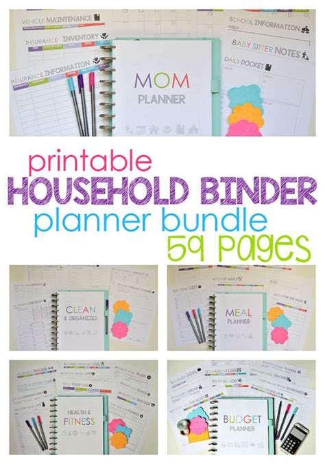 free printable planner for moms household binder households and mom planner on pinterest