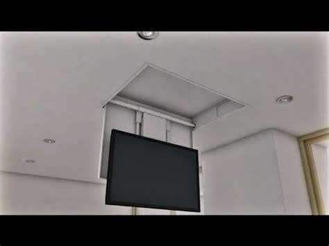 tv soffitto tv moving mfch staffe tv motorizzate da soffitto
