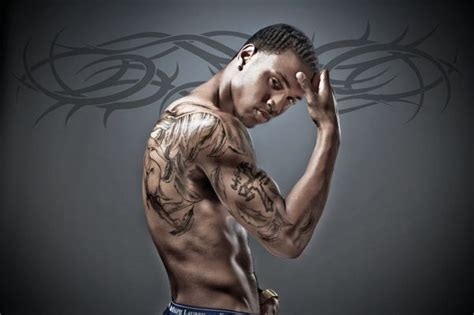 trey songz cross tattoo urbanink the website for of color