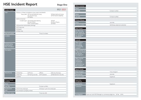 incident reports lockbox safety documentation