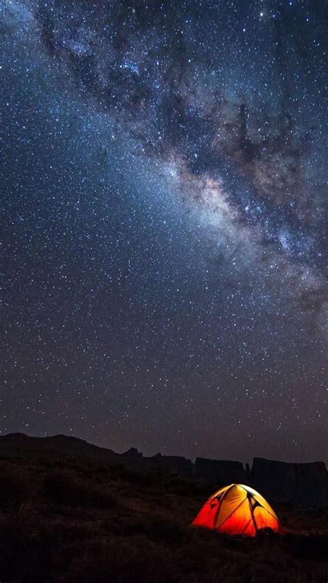 sky galaxy camp wallpaper