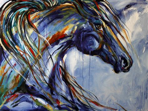 Equine Home Decor a texas artist abstract horse painting palette knife by