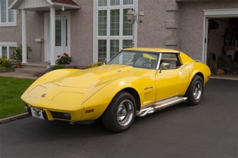 yellow paint sles chevrolet corvette convertible 1976 yellow for sale