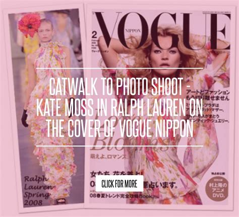 Catwalk To Photo Shoot Kate Moss In Donna Karan by Catwalk To Photo Shoot Kate Moss In Ralph On The