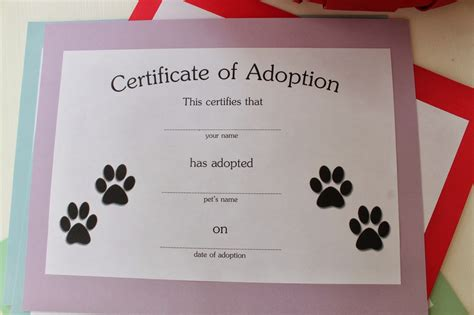 pet adoption certificate template adoption certificate for cake ideas and designs