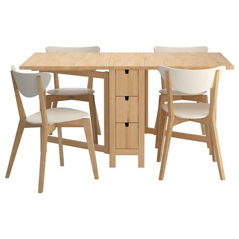 Furniture Kitchen Table Norden Nordmyra Table And 4 Chairs Ikea For The Of Kitchens Ikea Dining