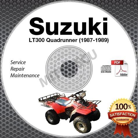 Suzuki 300 Quadrunner Parts 1987 1989 Suzuki Lt300 Quadrunner 300 Service Manual Cd