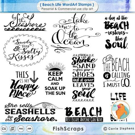 printable beach quotes 75 sale beach typography word art summer inspirational