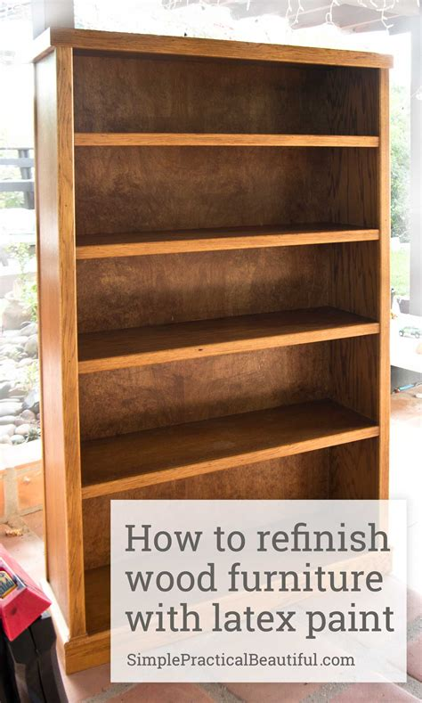 How To Restain Wood Furniture by Refinishing A Wood Bookcase Simple Practical Beautiful