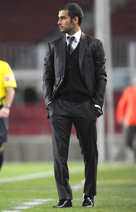 coaching soccer like guardiola pep guardiola looks hot wearing a suit fashion for men