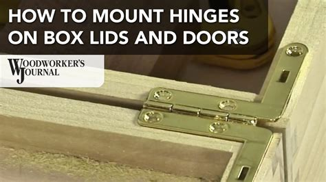 mount hinges  box lids doors   projects
