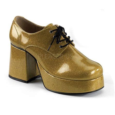 funtasma 3 5 quot gold glitter platform funky retro disco 70s