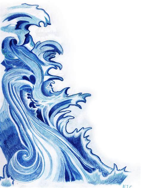 Cartoon Wave Tattoo | japanese waves by maximusdamage on deviantart