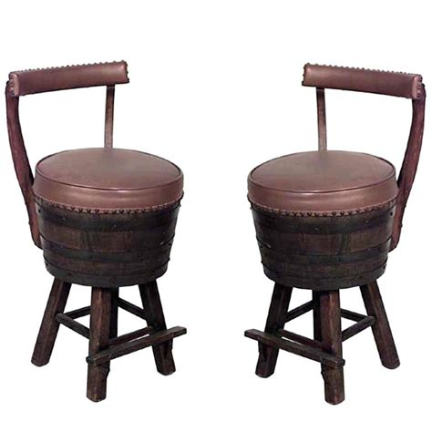 Oak Barrel Chairs For Sale by Pair Of 20th Century Rustic Hickory Oak Barrel Design