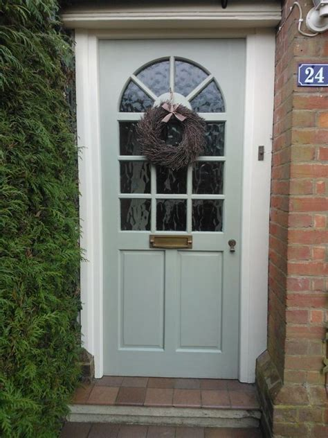Christine S Festive Front Door Painted In French Gray With Gray Front Doors