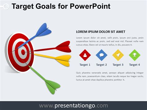 Free Target And Goals Powerpoint Templates Presentationgo Com Powerpoint Graphic Templates