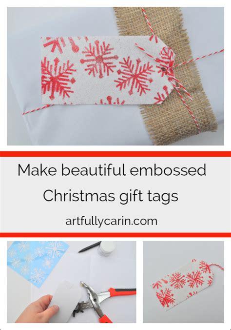make beautiful embossed christmas gift tags