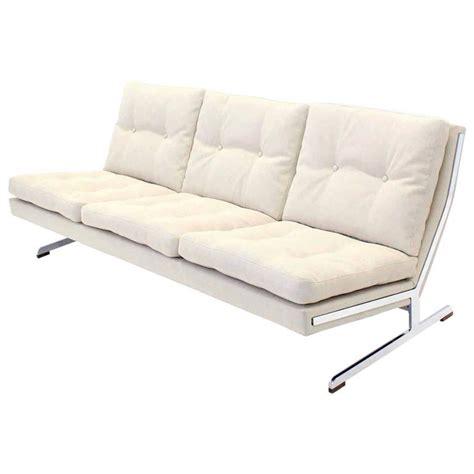 Mid Century Modern Sofa For Sale Mid Century Modern Chrome Frame Sofa New Upholstery For Sale At 1stdibs