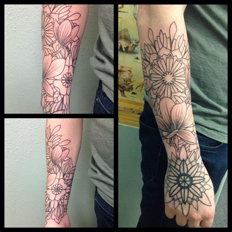 forearm flower tattoos 23 forearm sleeve designs ideas design trends