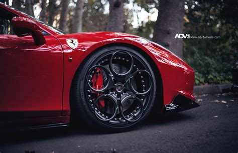 ferrari wheels horsing around in 2 ferrari 458 s on adv 1 wheels adv 1