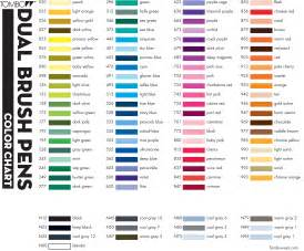tombow dual brush pen color chart tombow