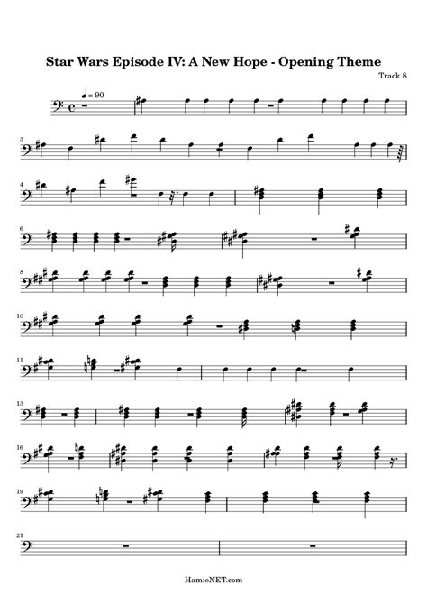 theme music to star wars flute sheet music star wars theme song www imgkid com