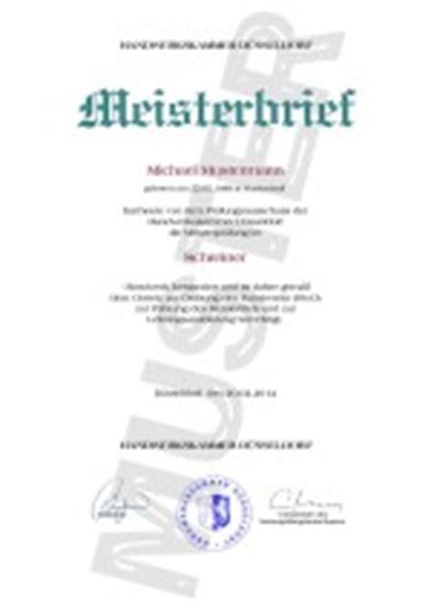 Kfz Lackierer Halle Saale by Meisterbriefe Einfach Kaufen Meisterbrief Kaufen