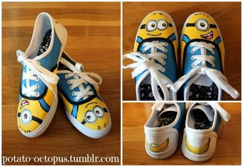 diy minion shoes diy handpainted despicable me minion shoes http potato
