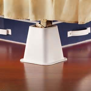 white bed risers bed risers 4 pack white 6 inch