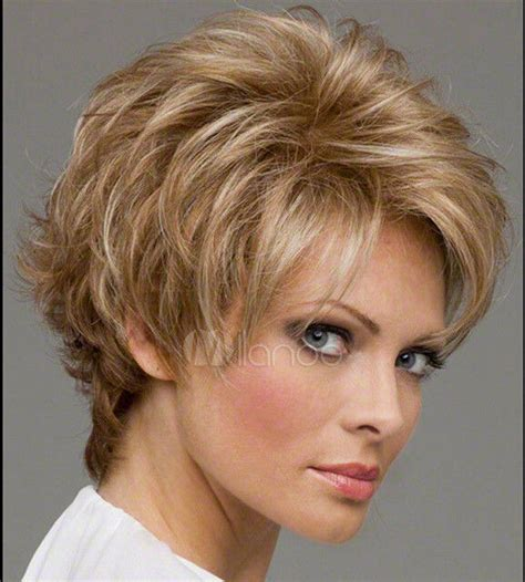 trendy hair styles for wigs light gold blonde synthetic hair wigs quality lady s short