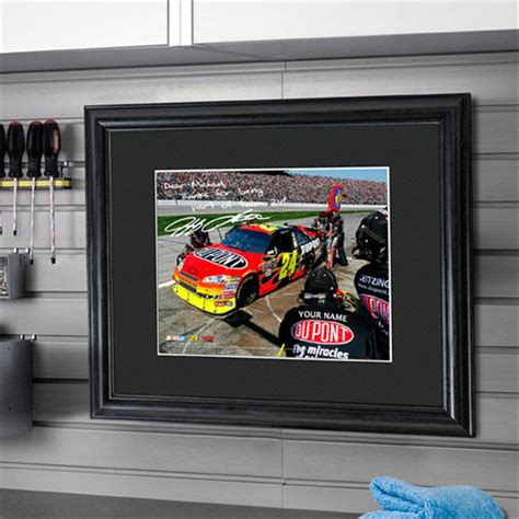 gifts for nascar fans personalized nascar autographed framed print 229802