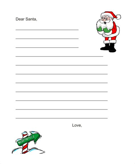 Santa Letter Template 9 Free Word Pdf Psd Documents Download Free Premium Templates Blank Santa Letter Template