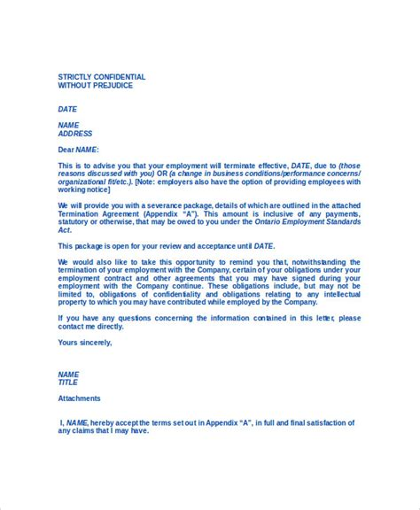 Termination Of Service Agreement Template