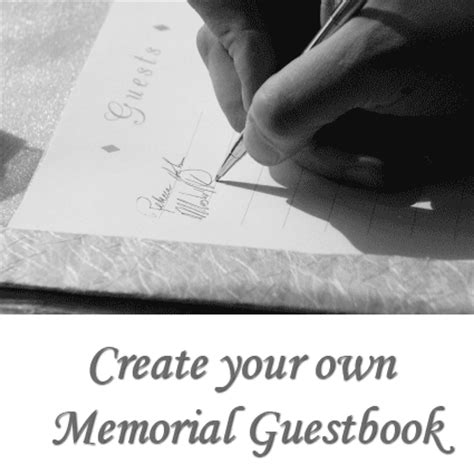 Create Your Own Memorial Guest Book Funeral Memory Book Templates