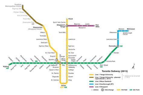 toronto subway map toronto subway