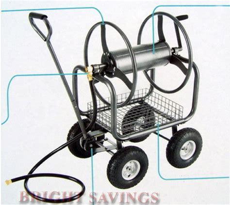 Heavy Duty Garden Hose Reel by New Heavy Duty 300 Hose Reel Cart Metal Rolling Outdoor