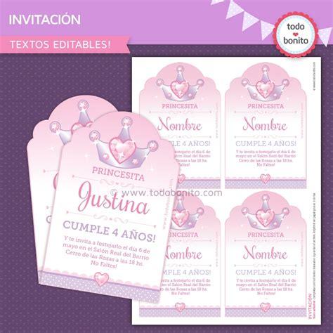 invitaci n de bautizo de princesa para imprimir invitaciones princesas para imprimir gratis imagui